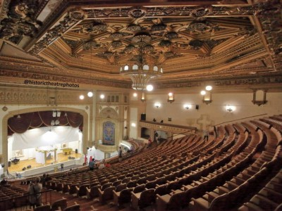State Theatre Updated: August 2018 The theatre has been vacant after Cathedral Of Faith (Catedral de la Fe), long term tenants, moved out in early 2018.  LAHTF is working with the owners of the State Theatre to find a theatrical tenant for the theatre For more info click here.