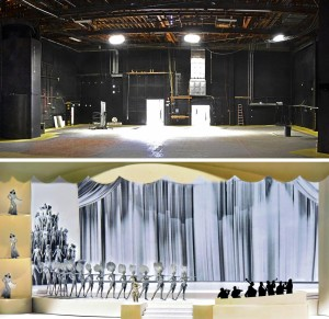 Stage model (below) and Stage (above)
