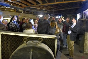 Tour group in Stage Basement