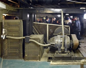 Machinery in the basement for the double revolving stages
