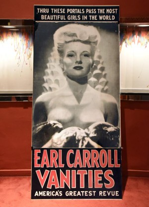 Vintage theatre poster on display
