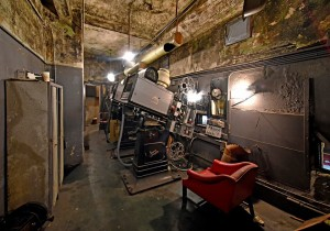 The Projection Booth, currently under renovation, houses space for at least three projectors