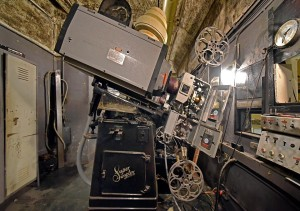 Projector Number One, currently under renovation in the Projection Booth
