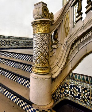 Tiled stairway detail in the Main Lobby of the State Theatre