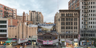 Update – October 2018.  The youngest and oldest historic theatres on Broadway are getting some much needed attention. The owners of the Roxie (November 1931), Cameo (October 1910), and Arcade (September 1910) have pulled building permits to replace and repair the roof areas of all three theatres. Over the years there have been multiple roof leaks, and no further building improvements are likely to take place until the leaks have been fixed, so this is good news for these three underutilized theatres.  CLICK THE PHOTO to continue reading.