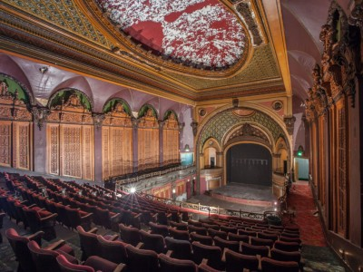 Tower Theatre Updated: 13th October 2019 Terracotta restoration, which includes graffiti removal, is now underway. A new lighting scheme is being trialed on the building